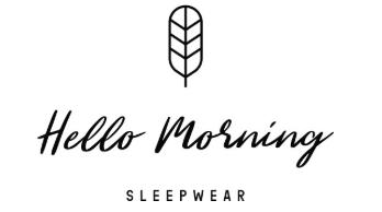 szorty do spania, piżamy damskie, bawełna organiczna, Hello Morning